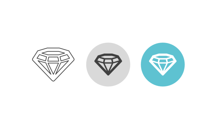 Triple icon pack - cut diamond
