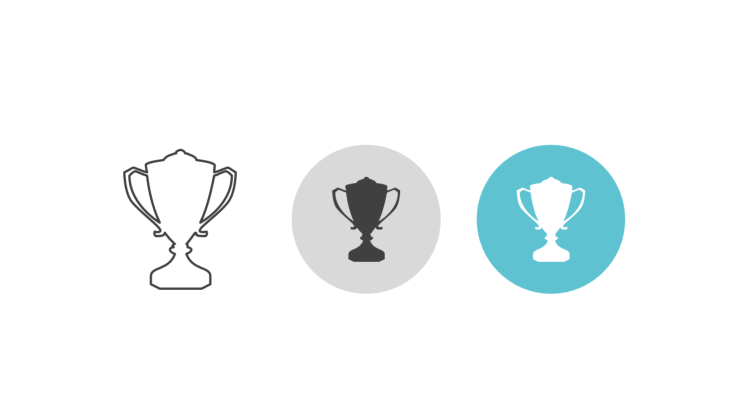 Triple icon pack - trophy cup
