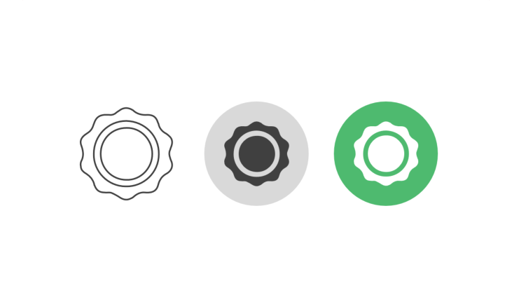 Triple icon pack - award seal with inner circle