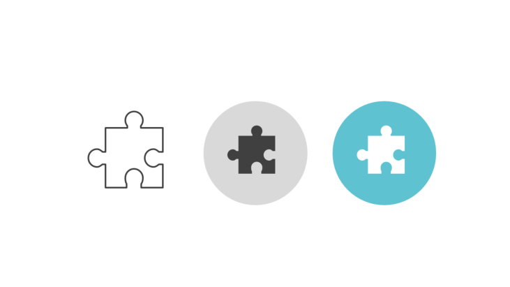 Triple icon pack - single jigsaw puzzle piece