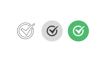 Triple icon pack - check mark in circle