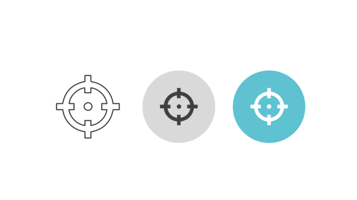 Triple icon pack - crosshairs for aiming at target