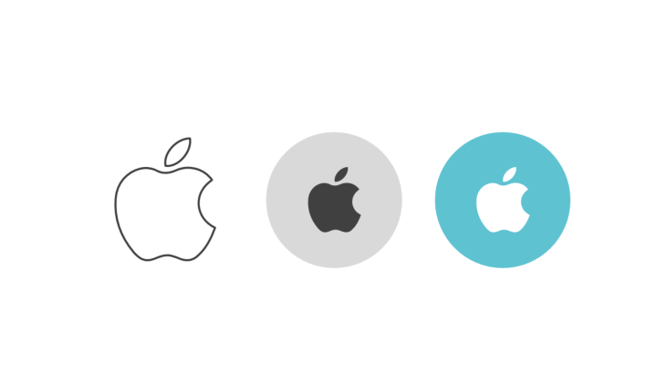 Dreier-Icon-Bündel - Symbol des Apple-Logos