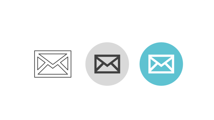 Triple icon pack - mail envelope
