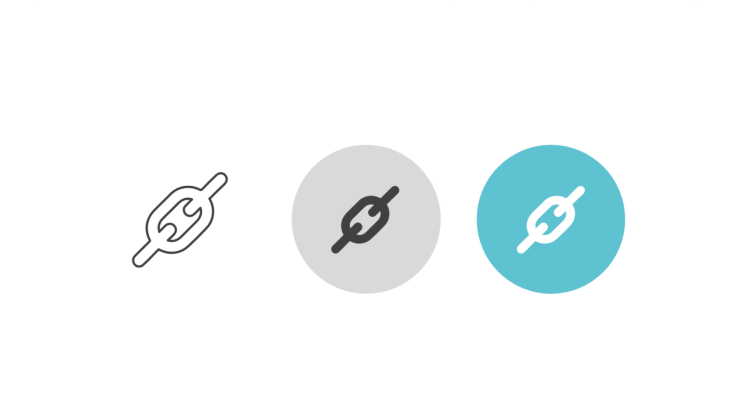 Triple icon pack - chain link