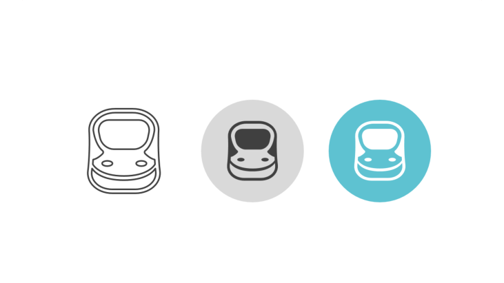 Triple icon pack - long distance high speed train
