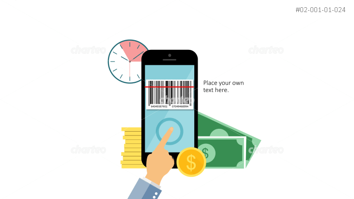 Mobile payment per smartphone with barcode scan