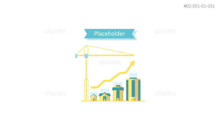 Infographic of rise in building construction with banner