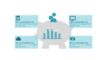 Piggy bank infographic for budgetary planning