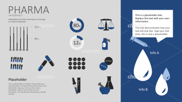 Pharma icons for use in an infographic