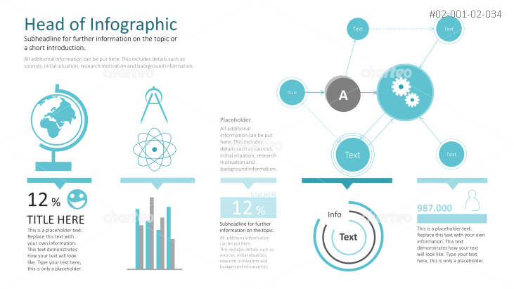 Globe and other objects for an infographic