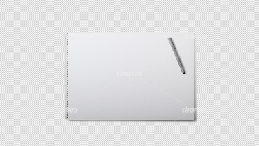 White ring binder sketch pad with pen