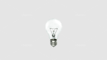 Single turned off light bulb with glow wire