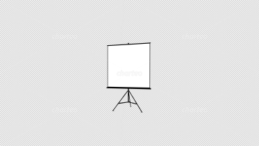 Screen as projection surface on tripod
