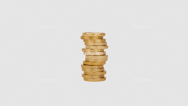 Uneven stack of fifteen British pound sterling coins