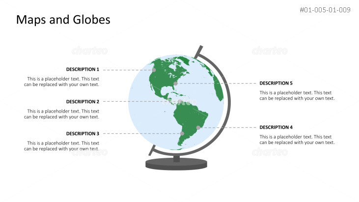Table globe focused on South and North America