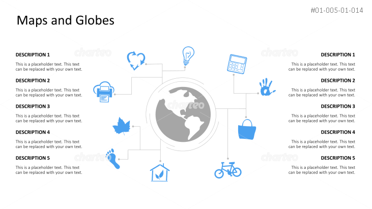 Internet of Things infographic of globe with orbiting icons