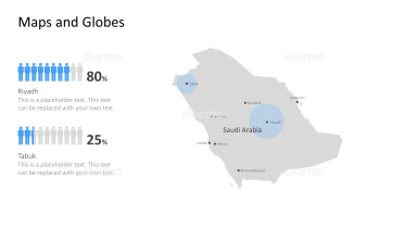 Shape of country with city names - Saudi Arabia