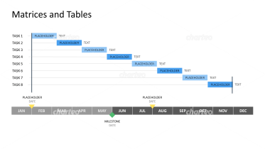 Year-round Gantt chart with task list
