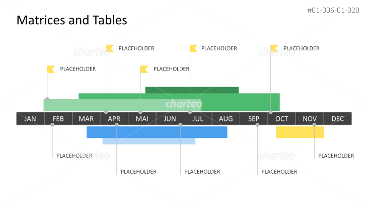 Gantt chart bars around year-round timeline