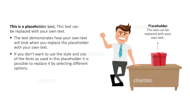 Cartoon People - Man with table and present box