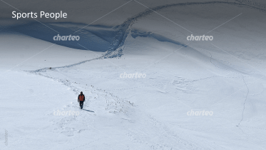 Sport People - Mountain climber in snow landscape