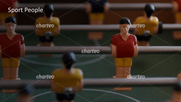 Sport People - Detailed view of table football figures 1