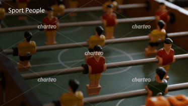 Sport People - Detailed view of table football figures 2