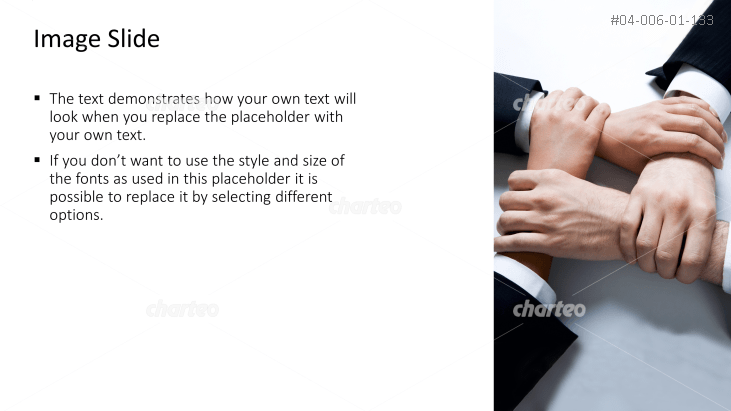 Textbox with image of crossed hands