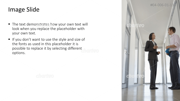 Textbox with image of people talking