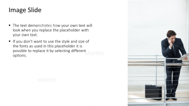 Textbox with image of person with smartphone
