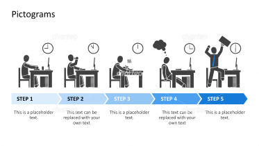 Pictograms - Work phases at the office