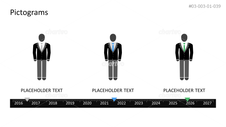 Pictograms - Timeline man with different outfits
