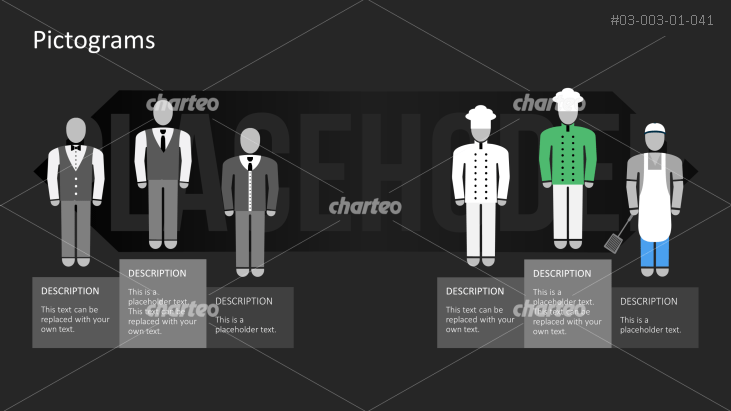 Pictograms - Outfit waiter and cook