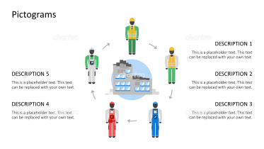 Pictograms - Outfits circulation construction site male
