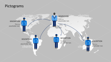 Pictograms - World map network people male