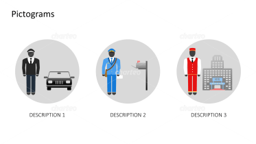 Pictograms - Outfits for different jobs male