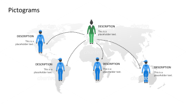 Pictograms - World map network people female