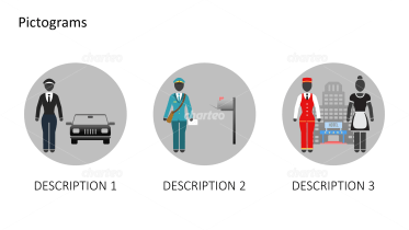 Pictograms - Outfits for different jobs female