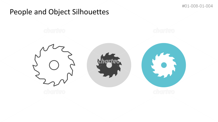 Triple icon pack - silhouette of circular saw blade