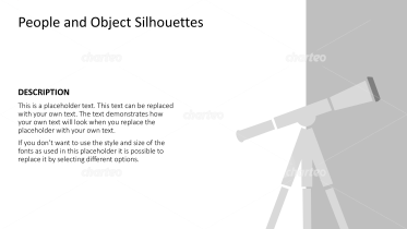 Silhouette of simple telescope on tripod