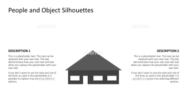 Silhouette of a detached one-story bungalow