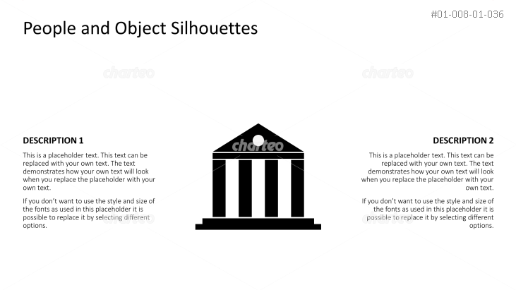 Silhouette of ancient temple building with pillars