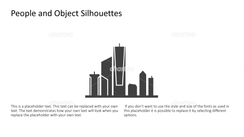 Silhouette of city skyline with skyscrapers
