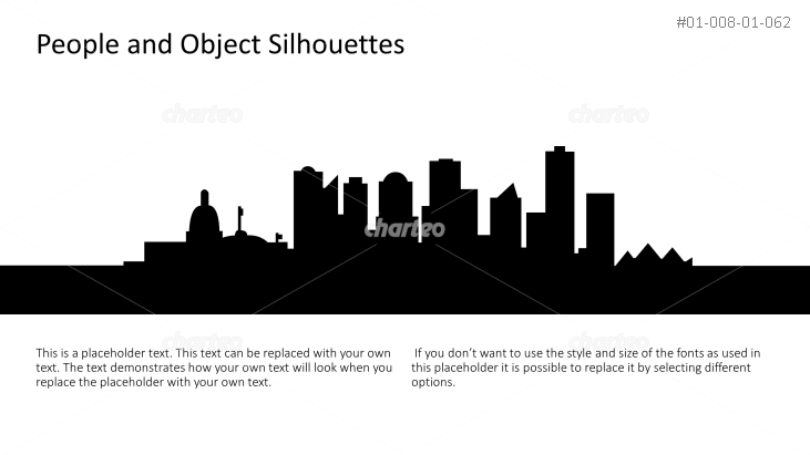 Silhouette of a big city skyline with skyscrapers