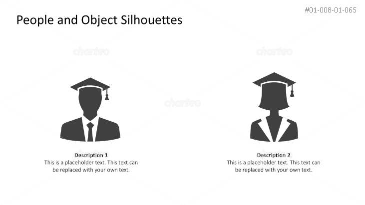 Silhouettes of graduating students as persona icons