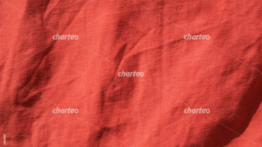 Red creased linen material