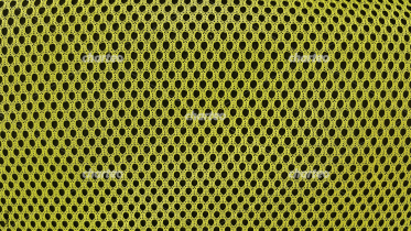 Yellow netted nylon sports fabric