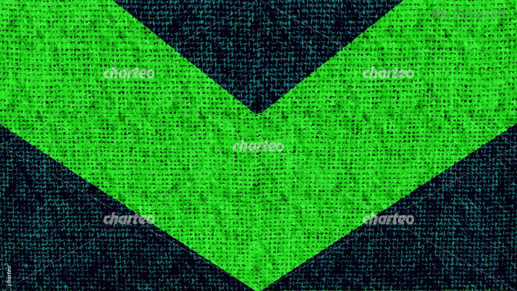 Black fabric with green arrow pointing downwards